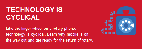 Google rotary phone - Technology is cyclical