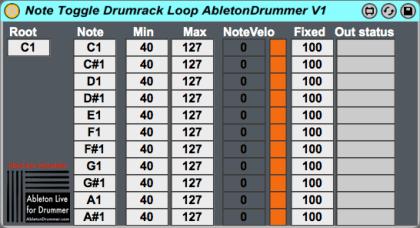 M4L device for Drumrack