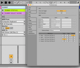 Using virtual midi routing in Ableton Live