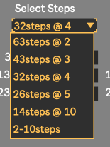 Select values to be triggered for Ableton Live
