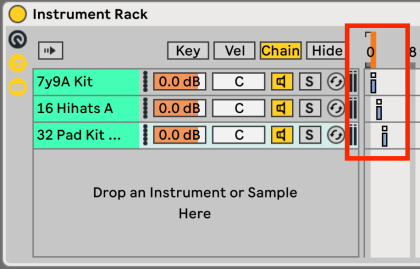 Select one Instrument in Ableton Live