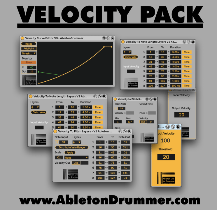 Velocity devices pack for Ableton Live