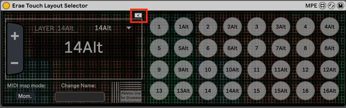 buttons to change presets in Ableton Live