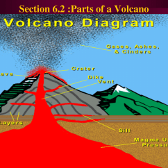Inside Volcano Diagram Vent Branching Tree Worksheet Science In English