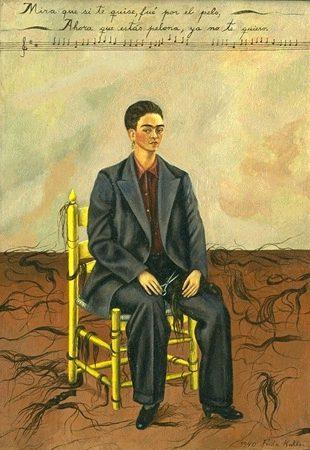 Frida Kahlo, Autoritratto con capelli tagliati, 1940