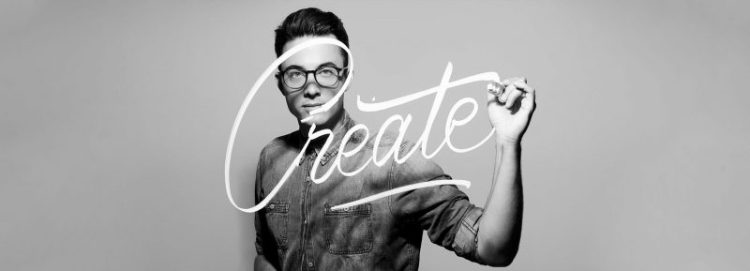 "Stefan Kunz scrive su vetro ""Create"""