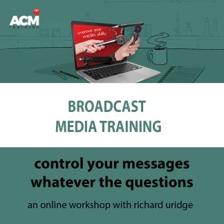 online broadcast media training header image