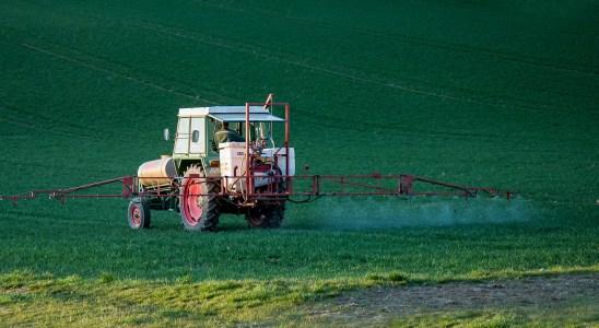 veículo despeja agrotóxicos em plantação