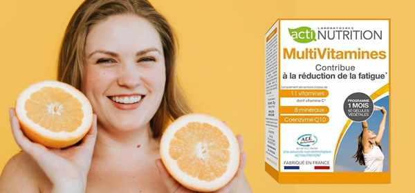 MultiVitamines Actinutrition pour réduire la fatigue