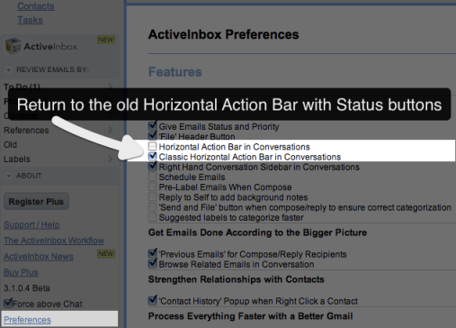 How to revert to the old Status Buttons