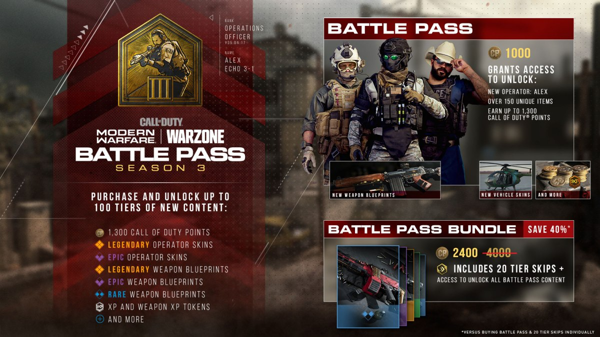 Modern Warfare and Warzone Season 3 Content MW S3 ROADMAP