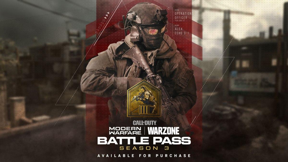 Modern Warfare and Warzone Season 3 Content MW S3 BATTLEPASS