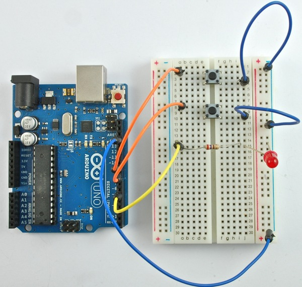 Pushbutton Turning An Led On And Off Microchip Pic Microcontroller
