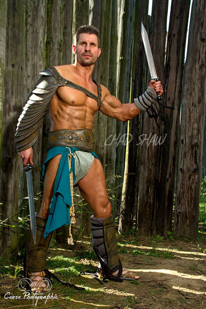 Spartacus Costume Made With Craft Foam And Sweatpants