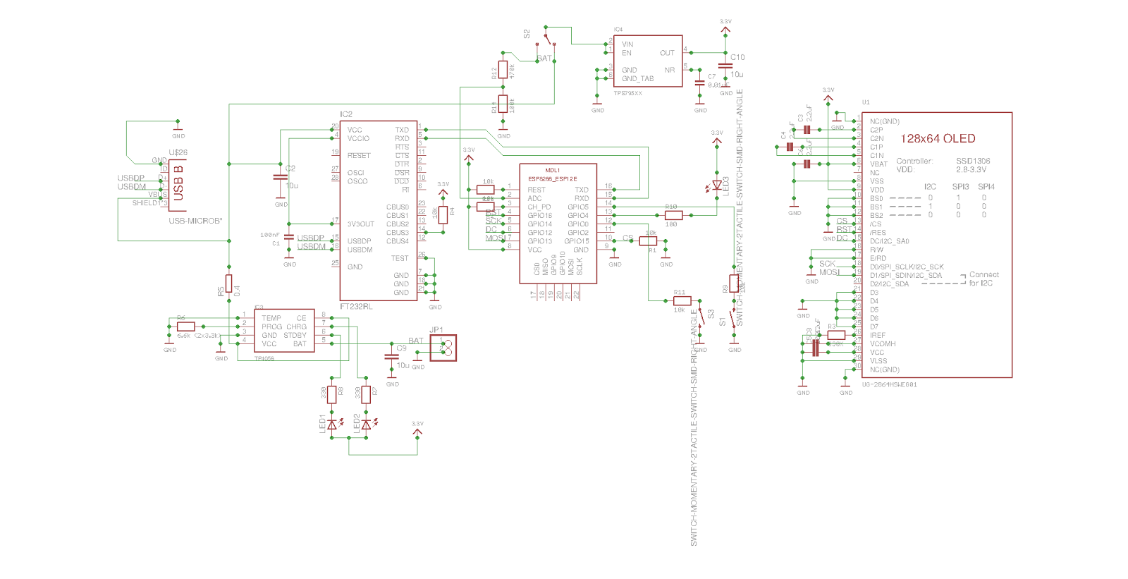 Esp12e Esp Smt Wireless Notifier With Oled Display