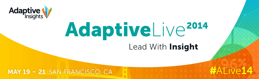 Click on the banner to book your spot at Adaptive Live 2014 in San Francisco!