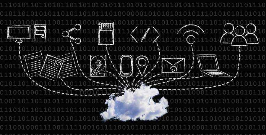 Big Data: Technology Devices Uploading Or Downloading Data Into