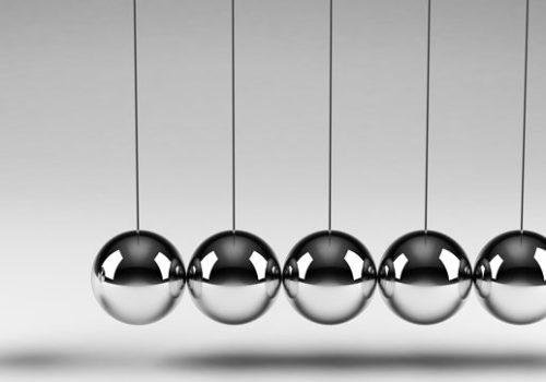 Balancing balls representing momentum of CPM software.