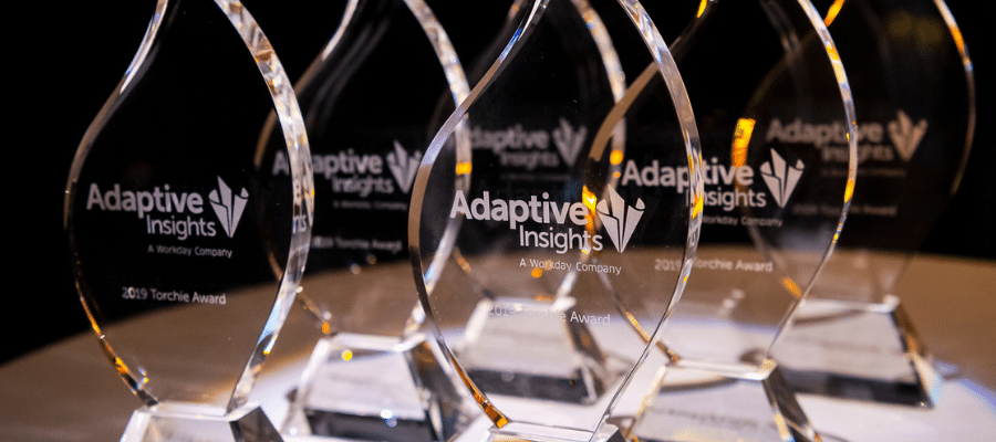Recently at Adaptive Live 2019, a group of these change agents stepped into the spotlight in a well-deserved celebration of the outstanding, real-world results they've achieved with the Adaptive Insights Business Planning Cloud. The annual Torchie Awards are always a high-profile part of Adaptive Live.