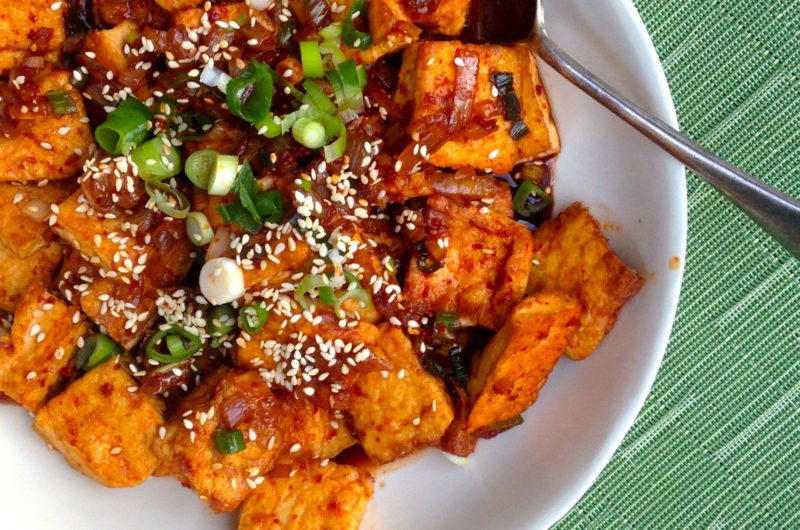 Tofu in Deliciously Spicy Sauce