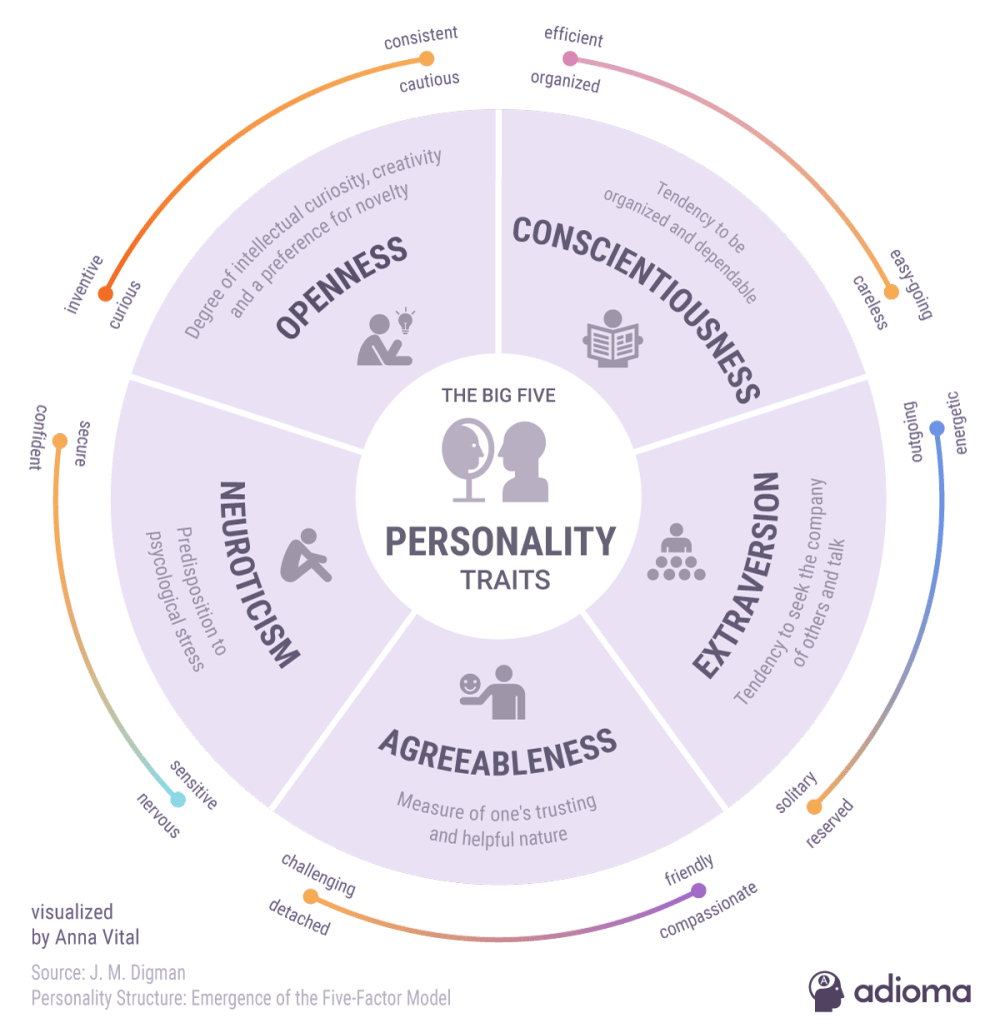 medium resolution of 5 personality traits infographic diagram of trait