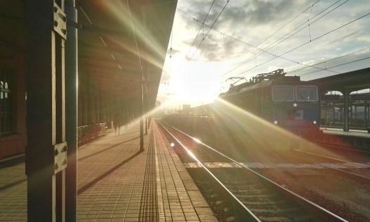 Morning at Ceska Trebova train station