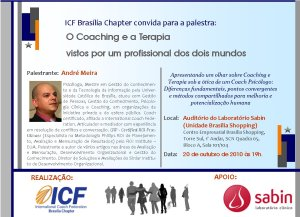 O coaching e a terapia