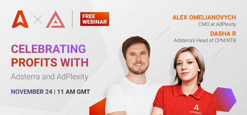 Webinar Adsterra and AdPlexity