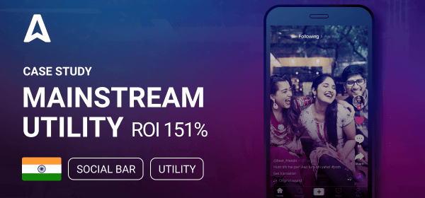Advertising Mobile App with Adsterra Social Bar