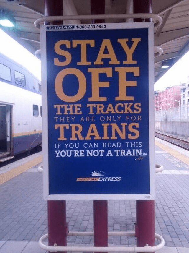 content writing, stay off the tracks