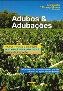 Capa do livro Adubos & Adubações, por E. Malavola; F Pimentel-Gomes; J.C. Alcarde