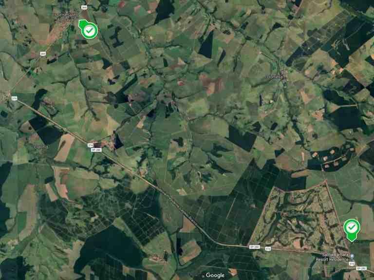 As fazendas das cidades de Águas de Santa Bárbara e Espírito Santo do Turvo