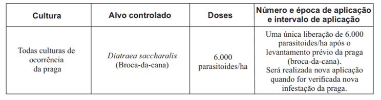 bula de Cotésia Biocontrol