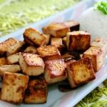tofu temperado - petisco de tofu