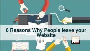 People Leave Websites fast