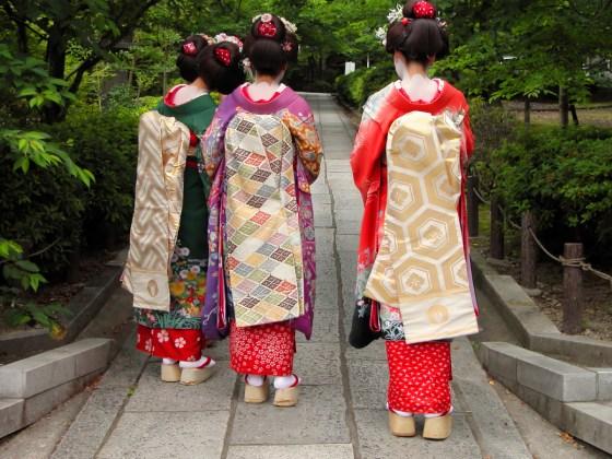 Three geishas