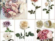 Alexis's Vintage Dusty Rose Purple & Cream Wedding Flowers ...