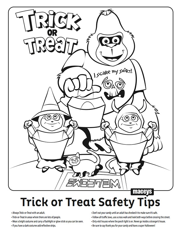 Free coloring pages of food safety