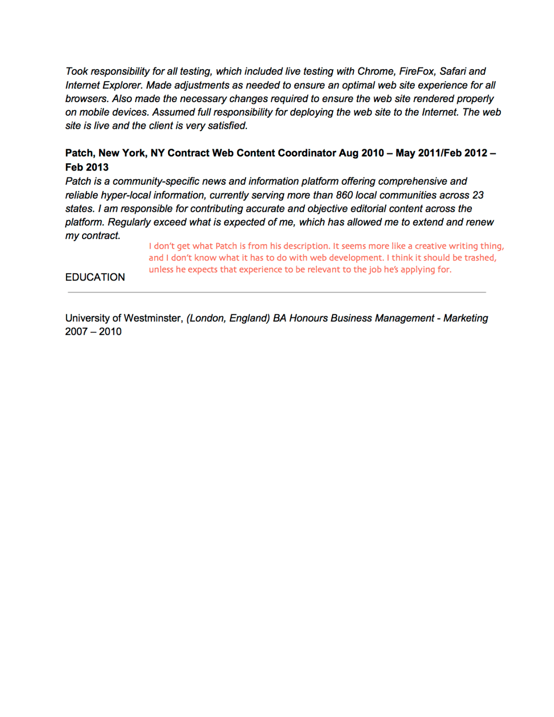 Sample Cover Letter For Entry Level Web Developer   Cover Letter