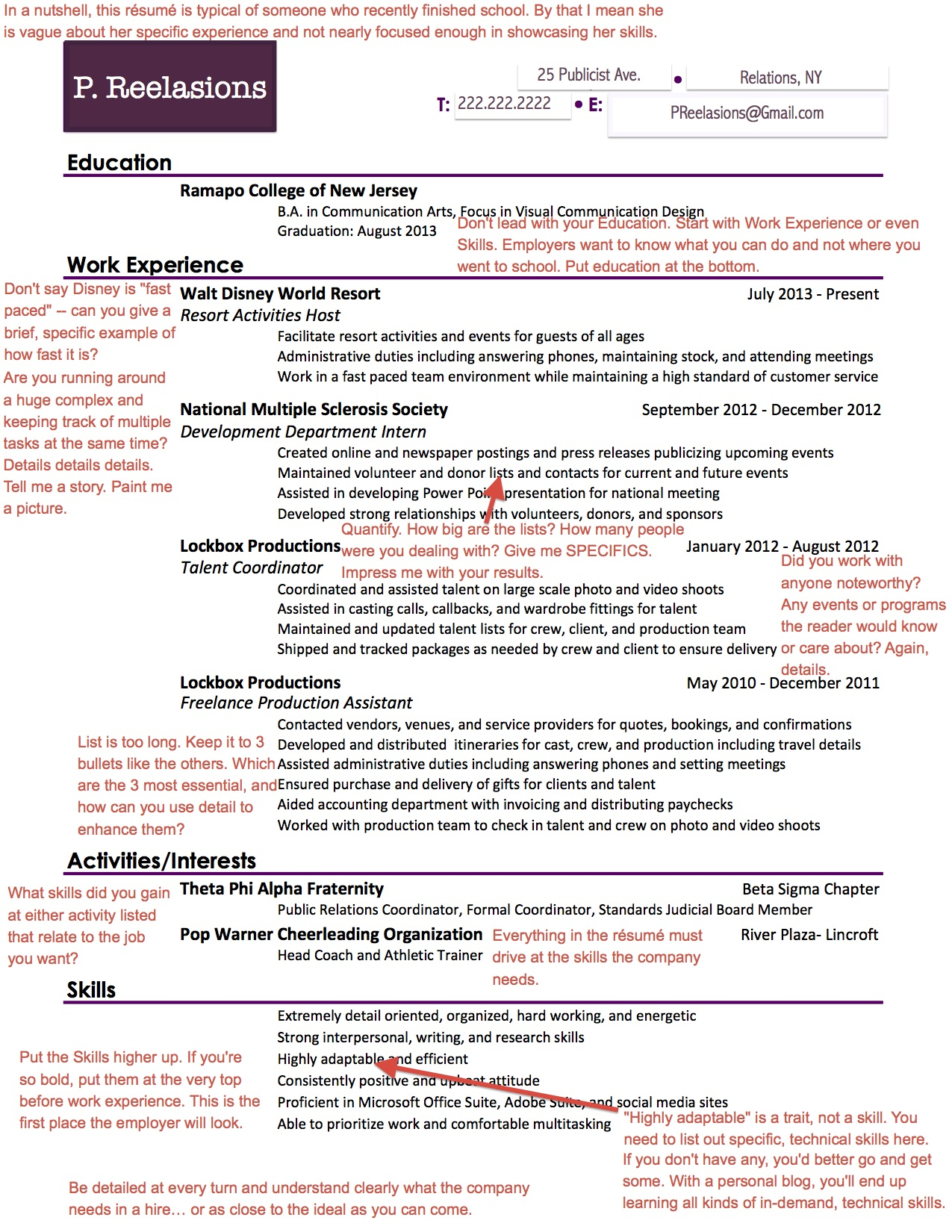 what employers are looking for on your pr rsum aftercollege - Pr Resume Example