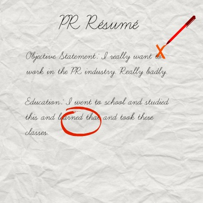 What Employers Are Looking For On Your PR Résumé