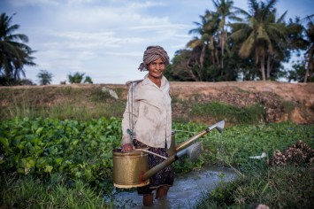 The vegetable seller by Michael Carroll. This 60 year old has lived in the same Cambodian village all her life and has worked in the same fields since she was a child.