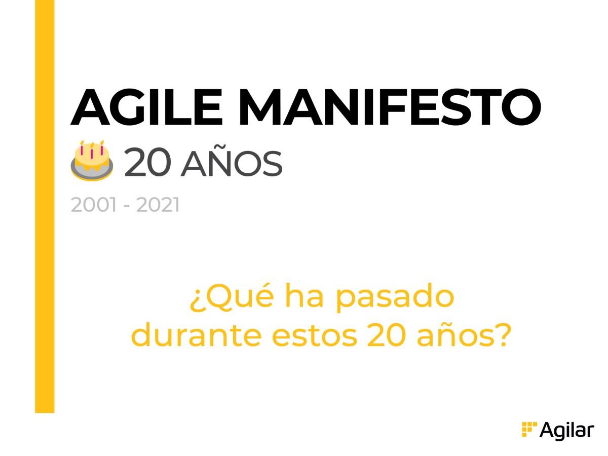 Manifiesto Ágil 20