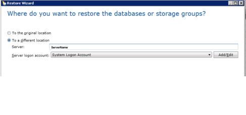 restore Exchange database3