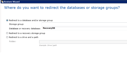 restore Exchange database4