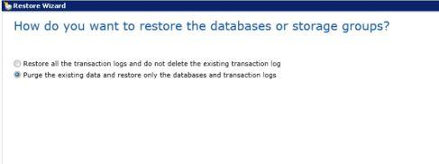 restore Exchange database5