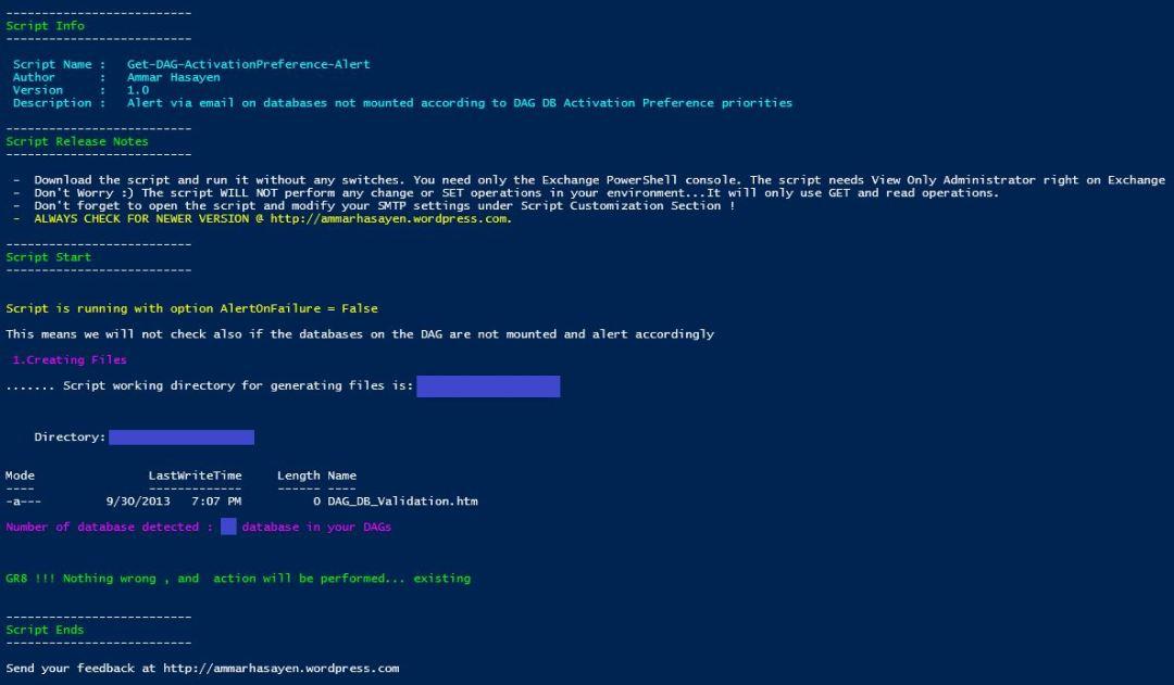 Monitor Exchange database activation preference | Ammar Hasayen