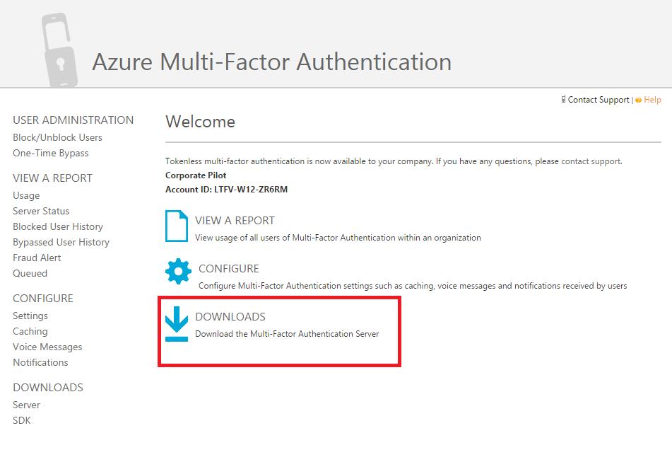 Azure Multi-Factor Authentication server 6