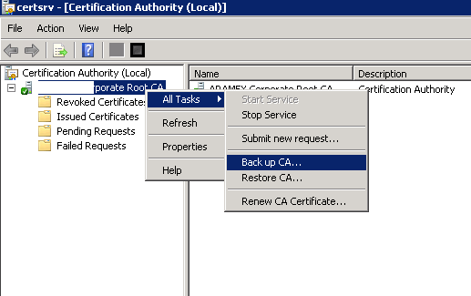 Migrate your certification authority root CA to Windows 2012 R2