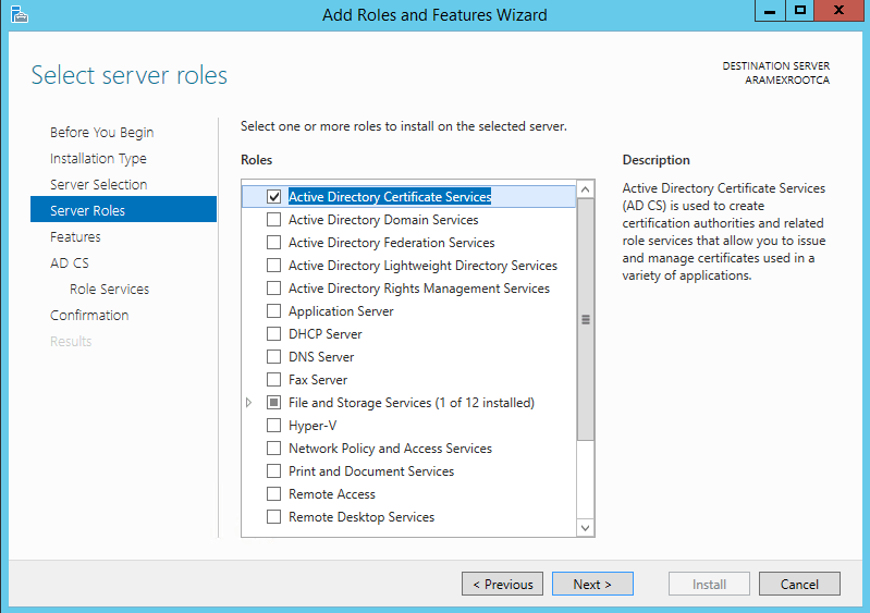 Migrate your certification authority root CA to Windows 2012 R2 7